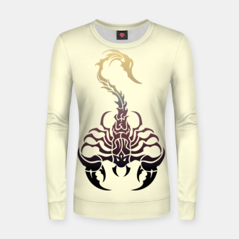 Thumbnail image of Scorpio, animal print, wild nature, scorpion, zodiac sign, celtic design Women sweater, Live Heroes