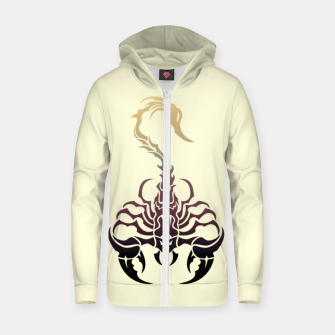 Miniature de image de Scorpio, animal print, wild nature, scorpion, zodiac sign, celtic design Zip up hoodie, Live Heroes