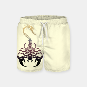 Miniatur Scorpio, animal print, wild nature, scorpion, zodiac sign, celtic design Swim Shorts, Live Heroes