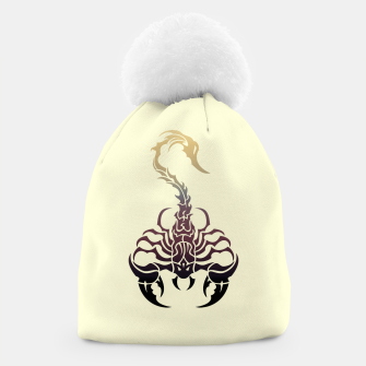 Miniatur Scorpio, animal print, wild nature, scorpion, zodiac sign, celtic design Beanie, Live Heroes