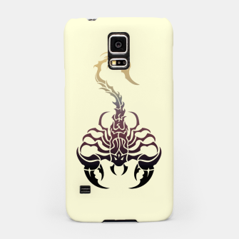 Miniatur Scorpio, animal print, wild nature, scorpion, zodiac sign, celtic design Samsung Case, Live Heroes