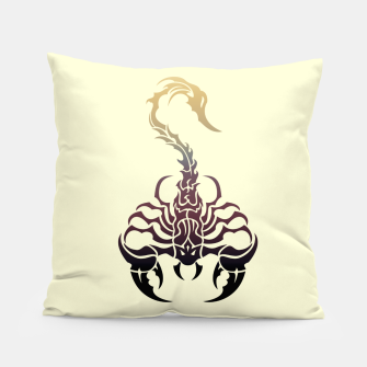 Miniature de image de Scorpio, animal print, wild nature, scorpion, zodiac sign, celtic design Pillow, Live Heroes