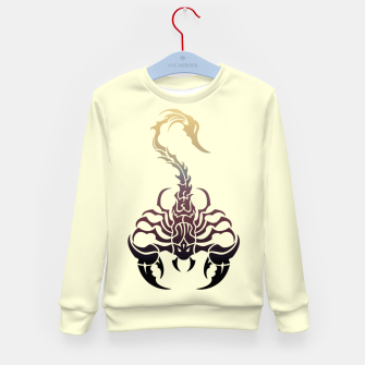 Miniature de image de Scorpio, animal print, wild nature, scorpion, zodiac sign, celtic design Kid's sweater, Live Heroes