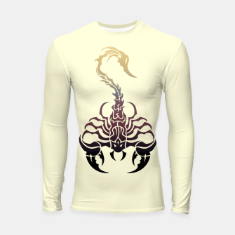 Thumbnail image of Scorpio, animal print, wild nature, scorpion, zodiac sign, celtic design Longsleeve rashguard , Live Heroes