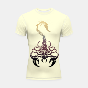 Thumbnail image of Scorpio, animal print, wild nature, scorpion, zodiac sign, celtic design Shortsleeve rashguard, Live Heroes