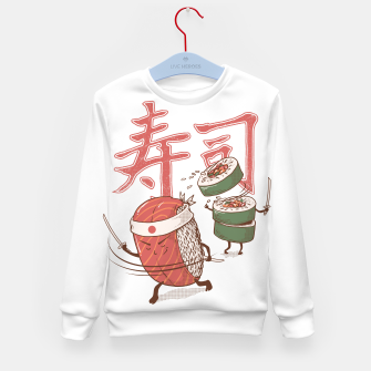 Thumbnail image of Sushi Warrior Kid's sweater, Live Heroes