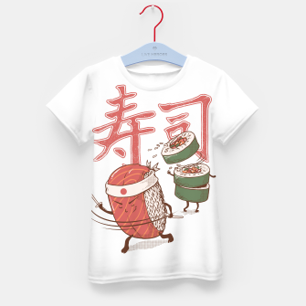 Thumbnail image of Sushi Warrior Kid's t-shirt, Live Heroes