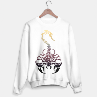 Miniatur Scorpio, animal print, wild nature, scorpion, zodiac sign, celtic design Sweater regular, Live Heroes