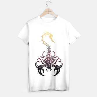 Thumbnail image of Scorpio, animal print, wild nature, scorpion, zodiac sign, celtic design T-shirt regular, Live Heroes