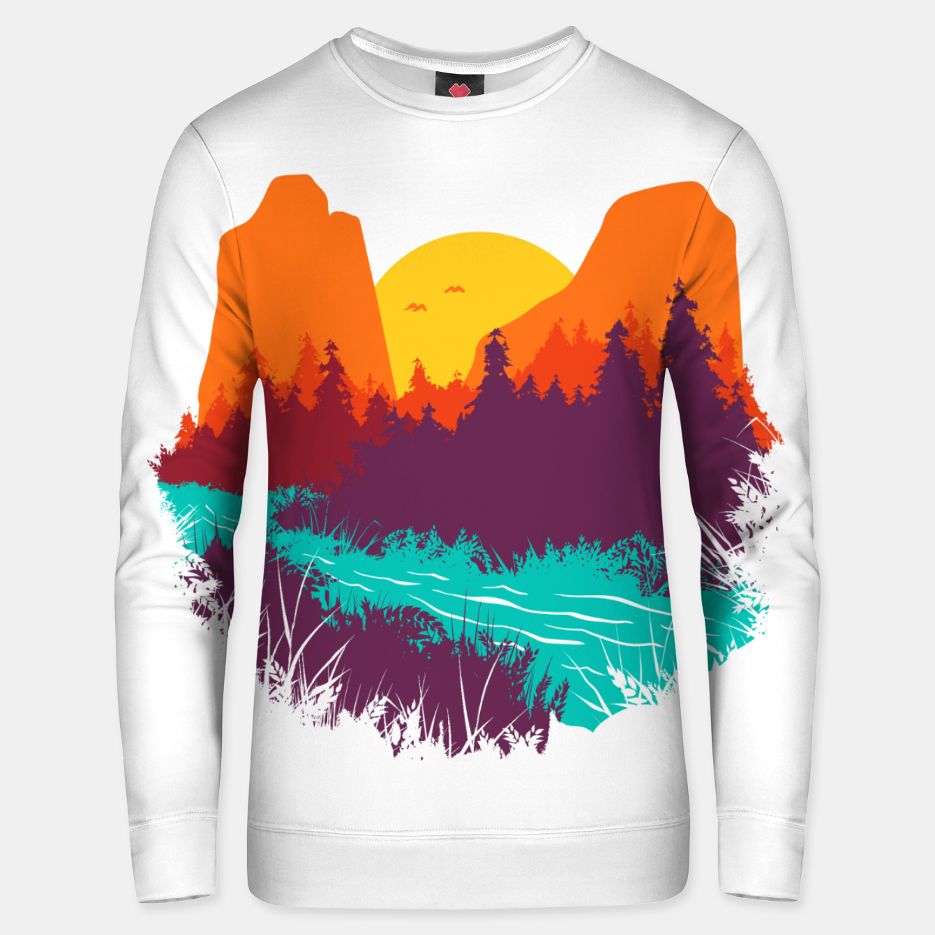 Image of River and Sunset Unisex sweater - Live Heroes