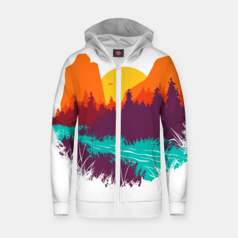 Thumbnail image of River and Sunset Zip up hoodie, Live Heroes
