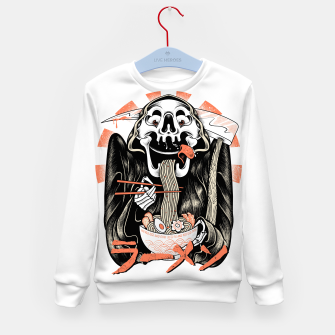 Grim Reaper Love Ramen Kid's sweater thumbnail image