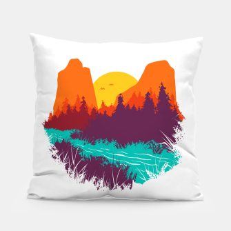 River and Sunset Pillow thumbnail image
