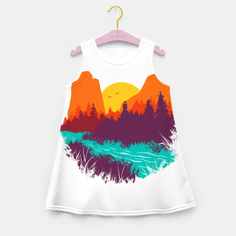 River and Sunset Girl's summer dress thumbnail image