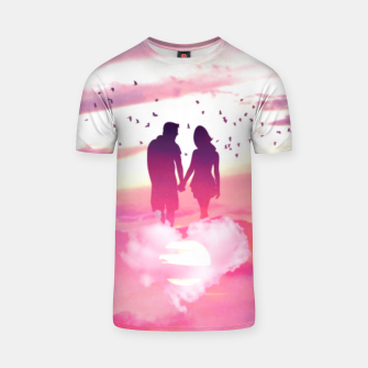 Miniatur Couple of Lovers T-shirt, Live Heroes