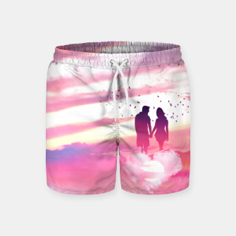 Miniatur Couple of Lovers Swim Shorts, Live Heroes