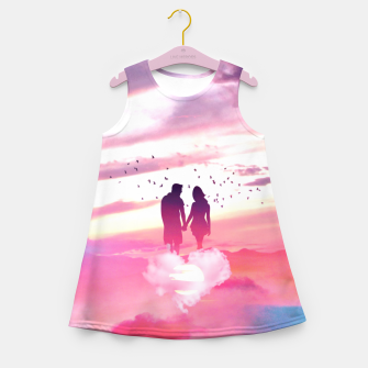 Miniatur Couple of Lovers Girl's summer dress, Live Heroes