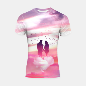 Miniatur Couple of Lovers Shortsleeve rashguard, Live Heroes