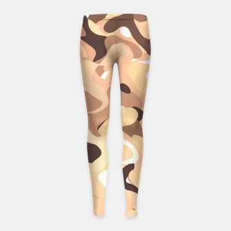 Thumbnail image of Mochaccino mornings, coffee lovers know Girl's leggings, Live Heroes
