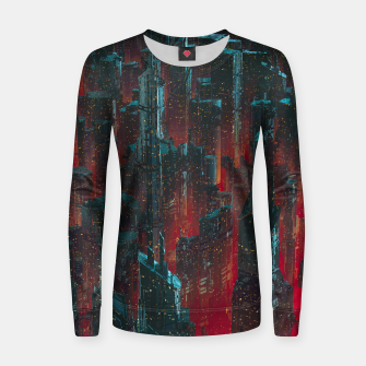 Thumbnail image of Cyberpunk Noir City Women sweater, Live Heroes