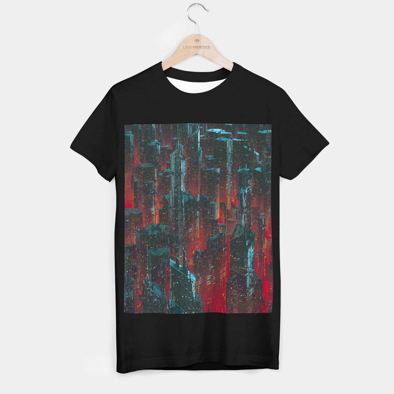 Foto Cyberpunk Noir City T-shirt regular - Live Heroes