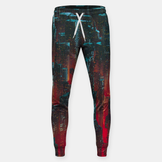 Thumbnail image of Cyberpunk Noir City Sweatpants, Live Heroes
