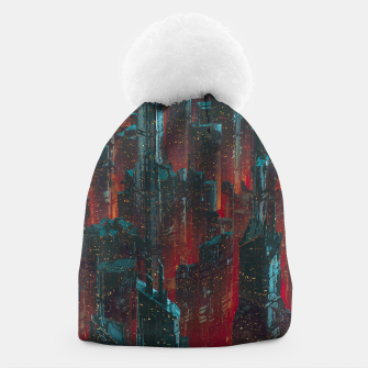 Thumbnail image of Cyberpunk Noir City Beanie, Live Heroes
