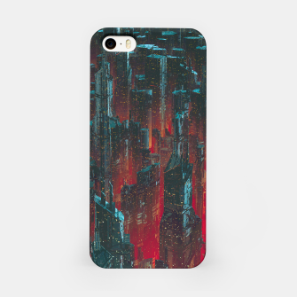 Miniatur Cyberpunk Noir City iPhone Case, Live Heroes