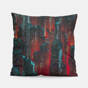 Cyberpunk Noir City Pillow thumbnail image