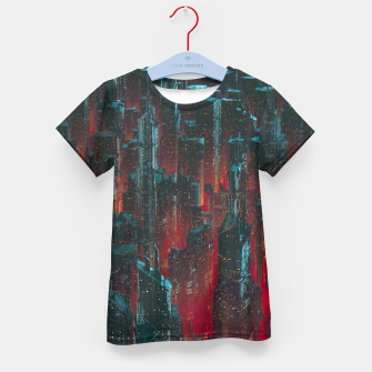 Thumbnail image of Cyberpunk Noir City Kid's t-shirt, Live Heroes