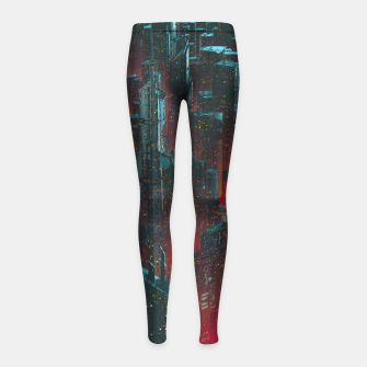 Cyberpunk Noir City Girl's leggings Bild der Miniatur