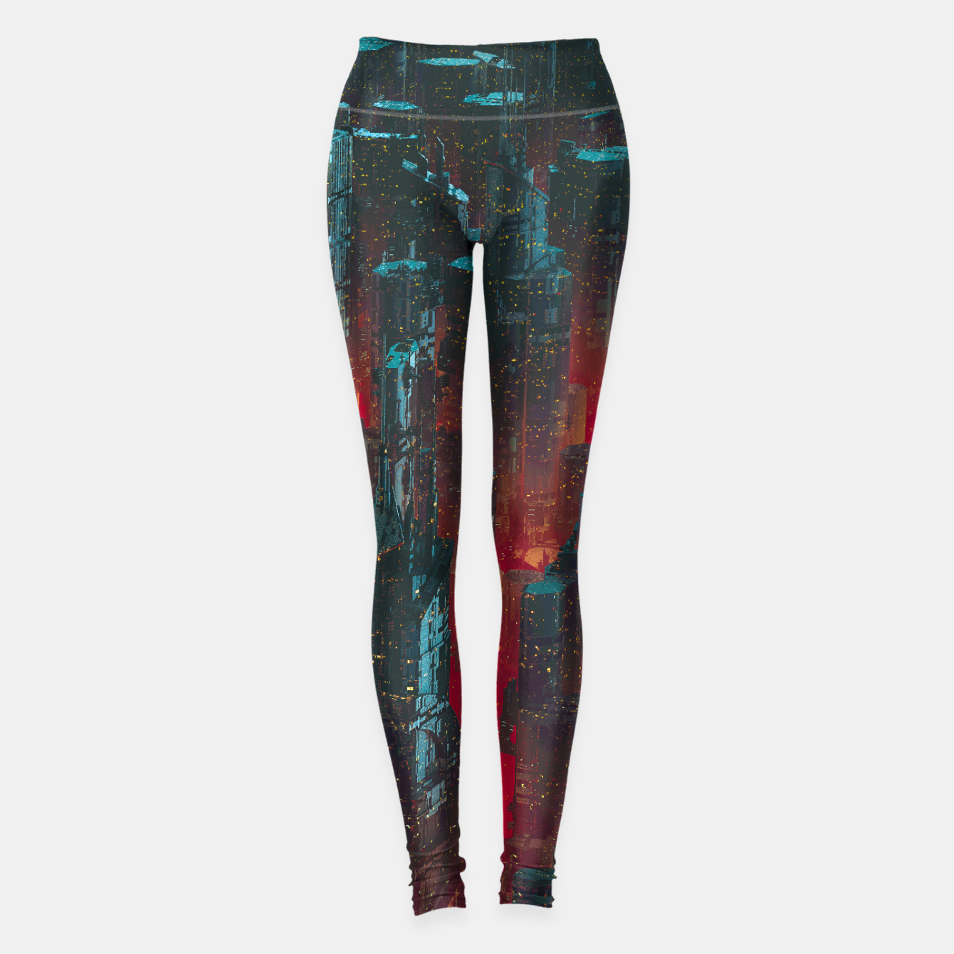 Image of Cyberpunk Noir City Leggings - Live Heroes