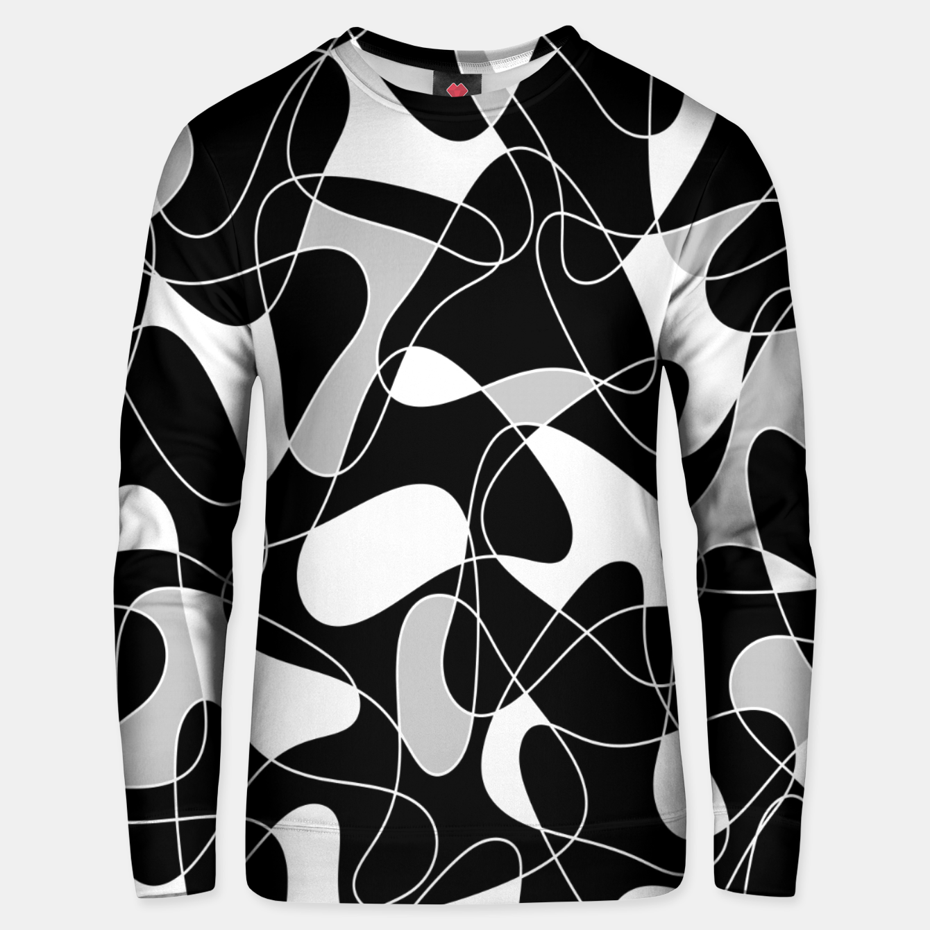 Image of Abstract pattern - black, gray and white. Unisex sweater - Live Heroes