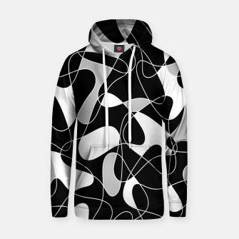 Abstract pattern - black, gray and white. Hoodie thumbnail image