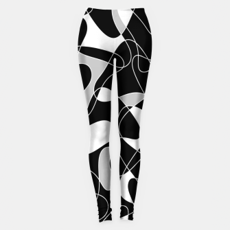 Abstract pattern - black, gray and white. Leggings thumbnail image