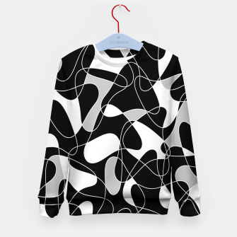 Abstract pattern - black, gray and white. Kid's sweater thumbnail image
