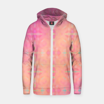 Thumbnail image of Pattern Tie Dye Rose/Jaune Sweat capuche zippé , Live Heroes