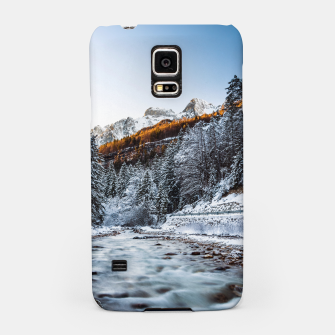 Autumn and winter river, forest and mountains Samsung Case thumbnail image