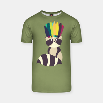 Thumbnail image of Indian Raccoon T-shirt, Live Heroes