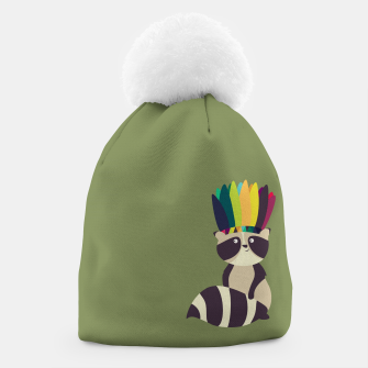 Thumbnail image of Indian Raccoon Beanie, Live Heroes