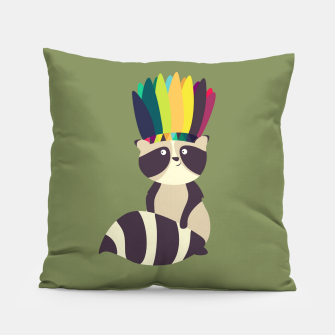 Thumbnail image of Indian Raccoon Pillow, Live Heroes