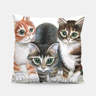 Thumbnail image of Three kittens cushion, Live Heroes