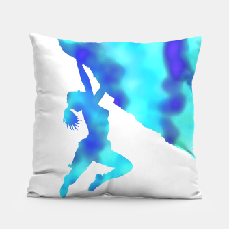 Thumbnail image of Blue bouldering ecstacy cushion, Live Heroes