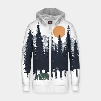 Thumbnail image of Camping Zip up hoodie, Live Heroes