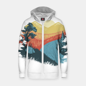Thumbnail image of Camp Vibes Zip up hoodie, Live Heroes