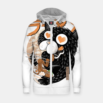 Thumbnail image of Cat Love Ramen Zip up hoodie, Live Heroes
