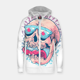 Thumbnail image of Skull Holiday Zip up hoodie, Live Heroes