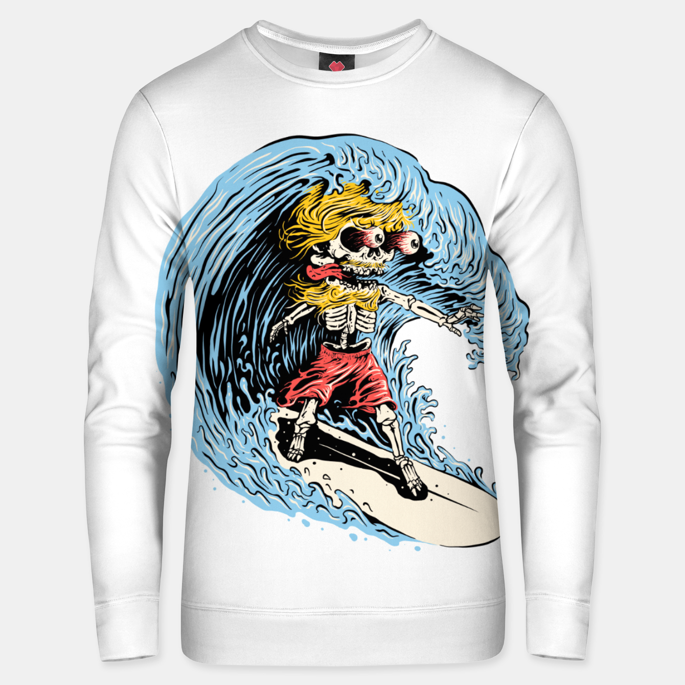 Image of Surfboarding Unisex sweater - Live Heroes