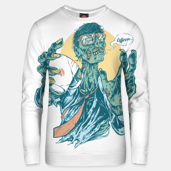 No Coffee Me Zombie Unisex sweater miniature