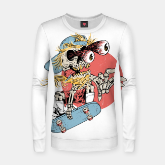 Thumbnail image of Skateboarding Women sweater, Live Heroes